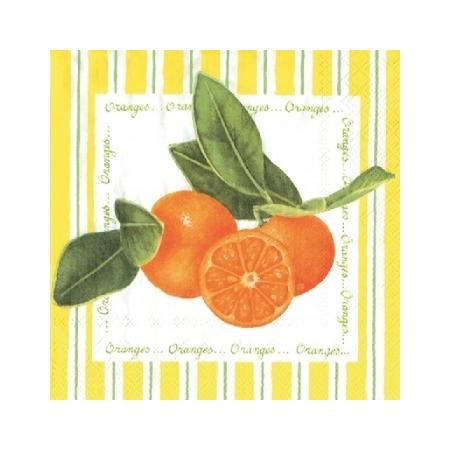 Купить Салфетки бумажные для декупажа IHR «Апельсины на желтом»