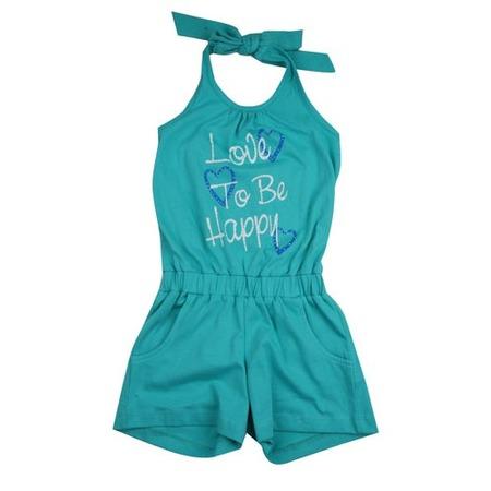 Купить Полукомбинезон для девочек Zeyland Happiness. Цвет: зеленый