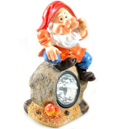 Купить Фонарь декоративный на солнечной батарее Valenсia «Гном рассказчик»