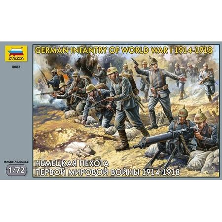 Купить Миниатюра Звезда Немецкая пехота Первой мировой войны 1914-18 годы