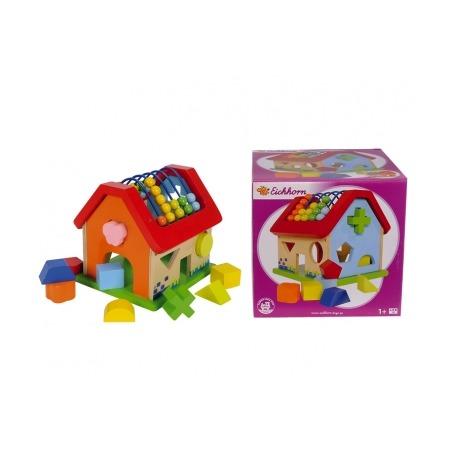 Купить Игрушка развивающая с кубиками Eichhorn «Домик»