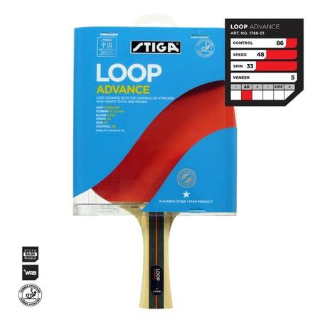 Купить Ракетка для настольного тенниса Stiga Loop Advance WRB