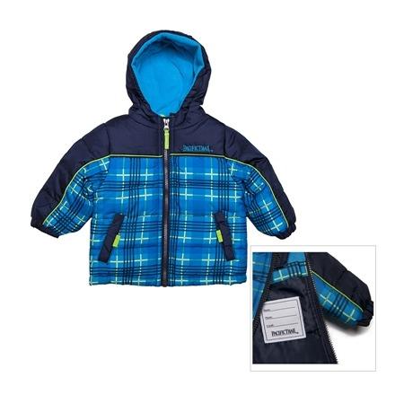 Купить Куртка утеплённая с капюшоном PacificTrail Шотландка-navy
