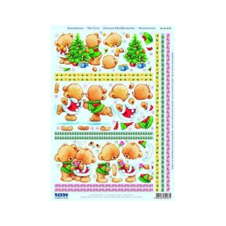 Купить Аппликация вырубная для объемных рисунков Reddy Creative Cards «Медвежонок зимой» №4