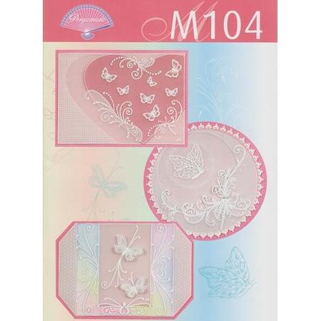 Купить Набор схем для парчмента Pergamano M104 Бабочки