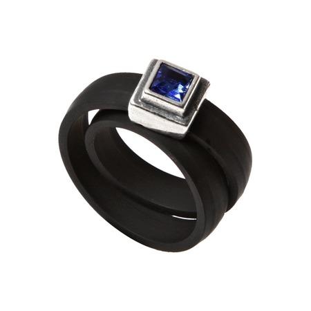 Купить Кольцо Jenavi Парнасида. Вставка: Swarovski синий кристалл