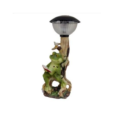 Купить Фонарь декоративный Valenсia «Читающая лягушка»