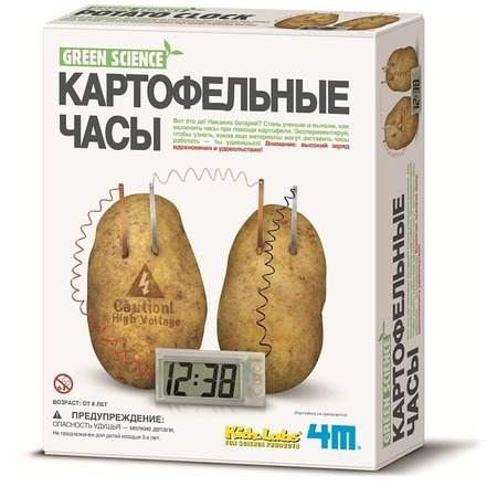 Купить Набор для изобретателей 4M «Часы картофельные»
