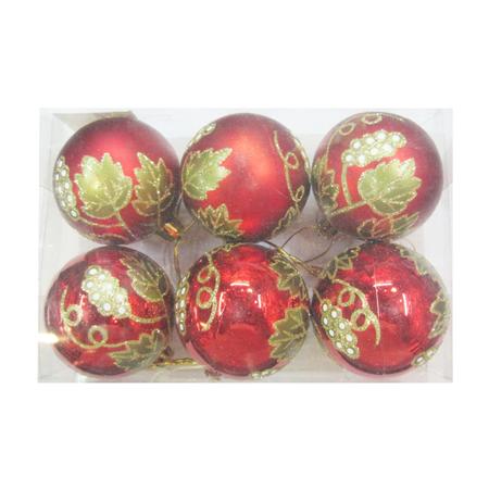 Купить Шары новогодние Irit «Рождественские цветы»