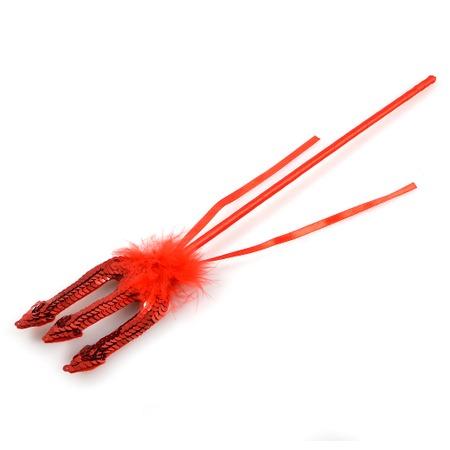 Купить Трезубец красный с блестками
