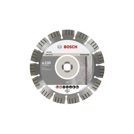 Купить Диск отрезной алмазный для угловых шлифмашин Bosch Best for Concrete 2608602651