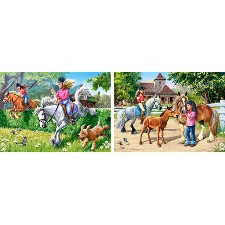 Купить Набор пазлов 2 в 1 Castorland «Верховая езда»