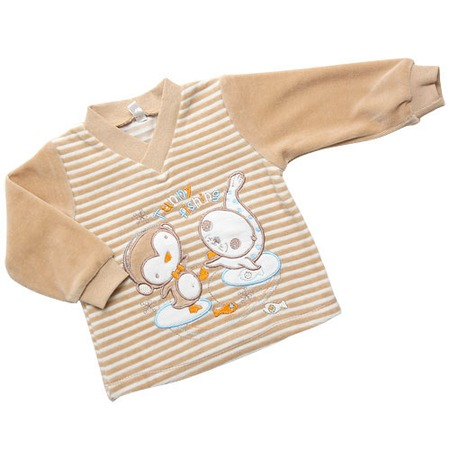 Купить Джемпер с вышивкой IDEA KIDS «Весёлые полосатики». Цвет: бежевый