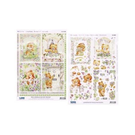 Купить Аппликация вырубная для объемных рисунков Reddy Creative Cards «Мишки с цветами»
