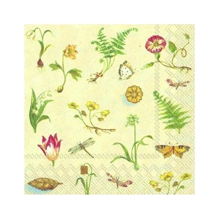 Купить Салфетки бумажные для декупажа IHR «Ботаника»