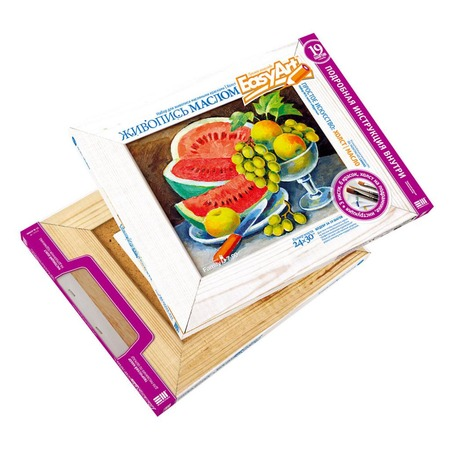 Купить Набор для живописи масляными красками EasyArt Холст «Фрукты»