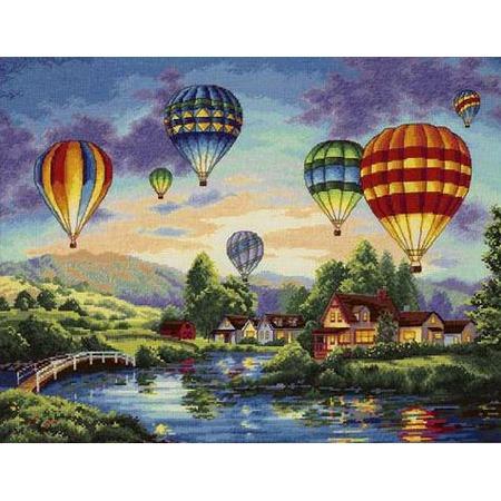 Купить Канва для вышивания Dimensions «Парад шаров»