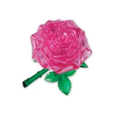 Купить Кристальный пазл 3D Crystal Puzzle «Роза розовая»