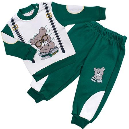 Купить Комплект для мальчиков: толстовка и брюки Pelops ЯВ109250. Цвет: зеленый