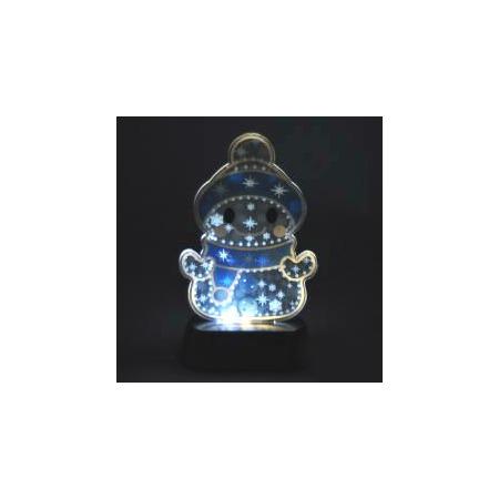 Купить Мерцающий ночник-светильник «Веселый снеговик»