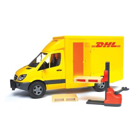 Купить Фургон с погрузчиком Bruder MB Sprinter DHL