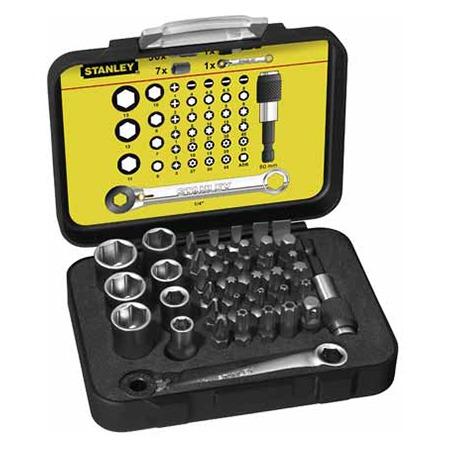 """Купить Набор вставок STANLEY Expert с мини-трещоткой в виде ключа и магнитным держателем 1/4"""""""