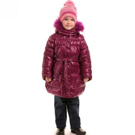 Купить Пальто детское для девочки Sp-Show ЯВ115052. Цвет: сливовый
