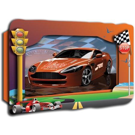 Купить Картинка объемная Vizzle Красный спорт-кар