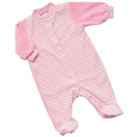 Купить Комбинезон с застежкой спереди IDEA KIDS «Весёлые полосатики». Цвет: розовый