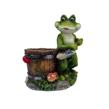 Купить Кашпо декоративное Valenсia «Лягушка-копатель»