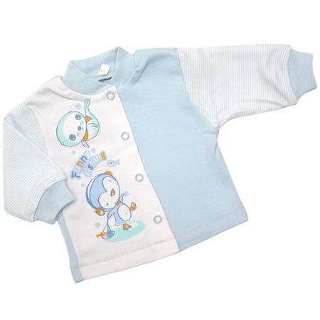 Купить Кофточка IDEA KIDS «Весёлые полосатики» с принтом. Цвет: голубой