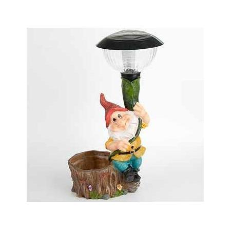 Купить Фонарь декоративный Valencia «Гном с фонарем»