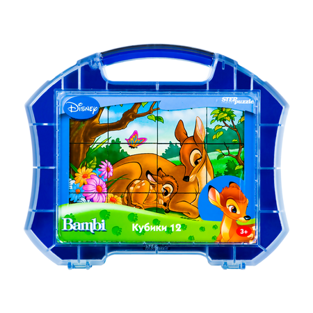 Купить Кубики развивающие в чемоданчике Step Puzzle Бемби