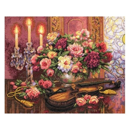 Купить Канва для вышивания Dimensions «Романтический букет»