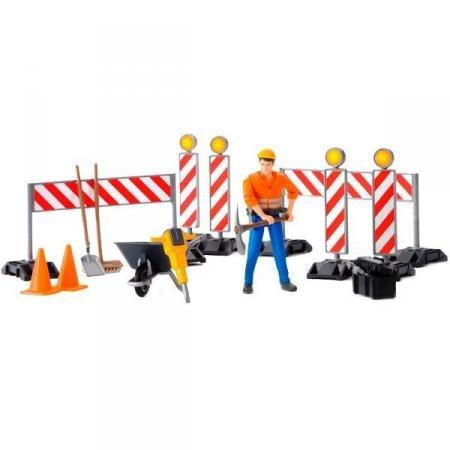 Купить Игровой набор Bruder Набор знаков дорожных работ 62-000