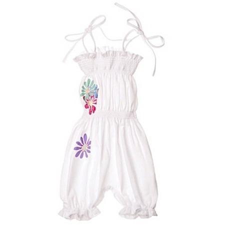 Купить Полукомбинезон для девочек Katie Baby Perfume Flowers. Цвет: белый