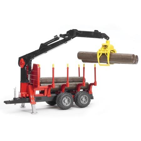 Купить Прицеп для перевозки леса с манипулятором Bruder 02-252