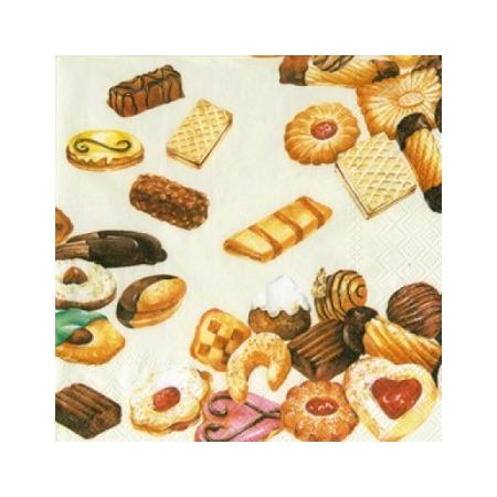 Купить Салфетки бумажные для декупажа IHR «Печенье»