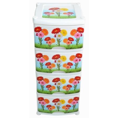Купить Комод 4-х секционный Violet «Цветы»