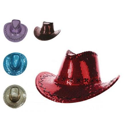 Купить Шляпа ковбойская Шампания блестящая. В ассортименте