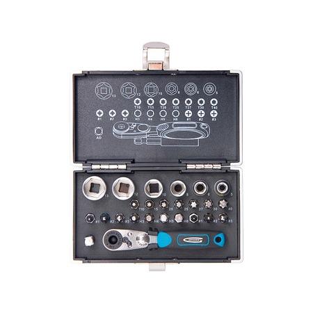 Купить Набор бит и головок торцевых с магнитным адаптером GROSS в кейсе
