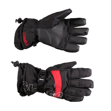Купить Перчатки горнолыжные GLANCE Element (2011-12). Цвет: черный, красный