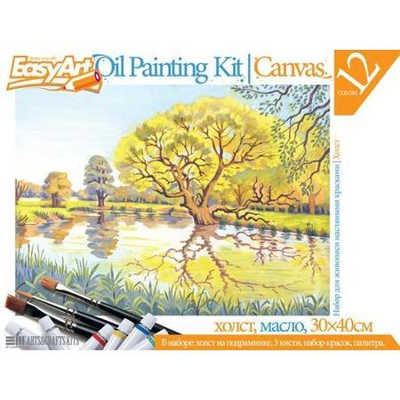 Купить Набор для живописи масляными красками EasyArt №7 «Пруд»