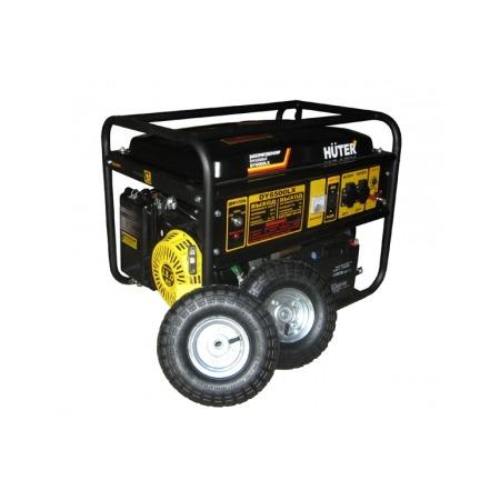 Купить Электрогенератор с колесами и аккумулятором Huter DY6500LX