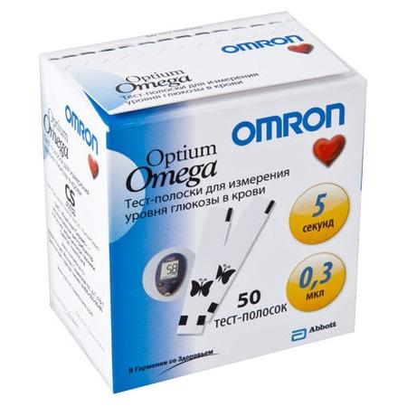 Купить Тест полоски для глюкометра Omron Optium Omega