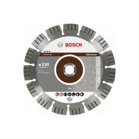 Купить Диск отрезной алмазный для угловых шлифмашин Bosch Best for Abrasive 2608602682