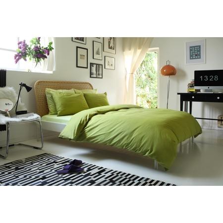 Фото Комплект постельного белья Dormeo Una. 1-спальный. Цвет: зеленый