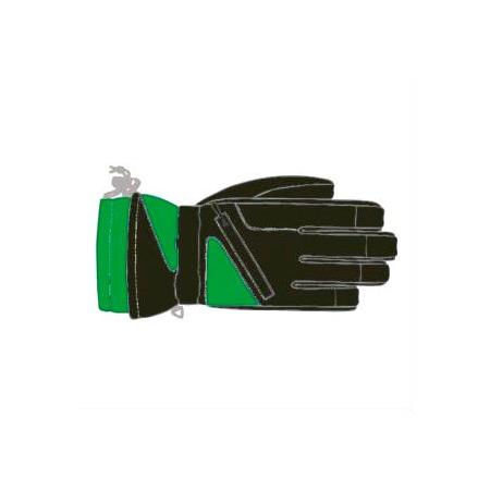 Купить Перчатки горнолыжные GLANCE Fighter (2012-13). Цвет: черный, зеленый