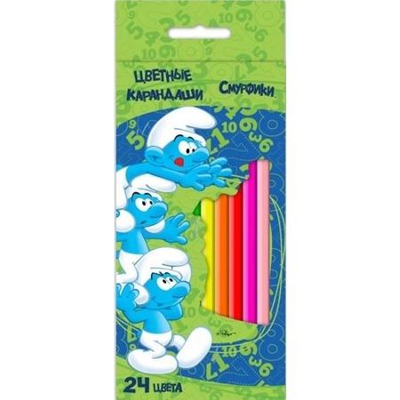 Купить Набор цветных карандашей Смурфики 22365