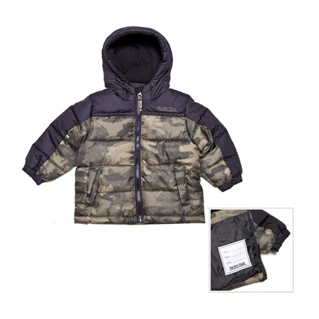 Купить Куртка утеплённая с капюшоном для мальчика PacificTrail Камуфляж-olive